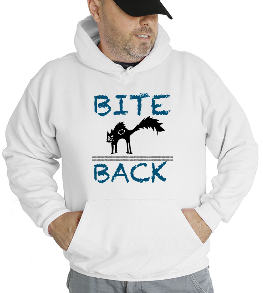 Bite Back Cat Hooded Sweatshirt