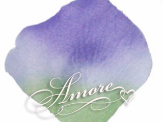 Vogue Green and Lavender Silk Wedding Rose Petals 200