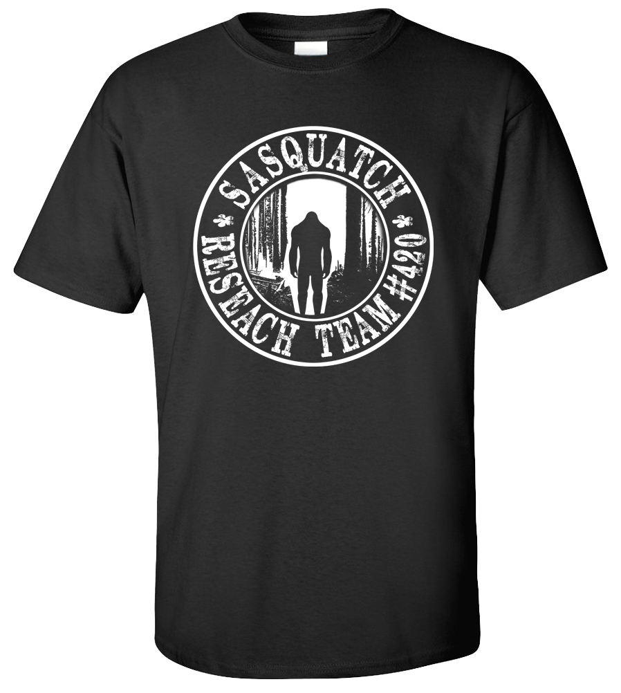 FINDING SASQUATCH RESEARCH TEAM FUNNY BIG FOOT GONE SQUATCHIN' T-SHIRT TEE