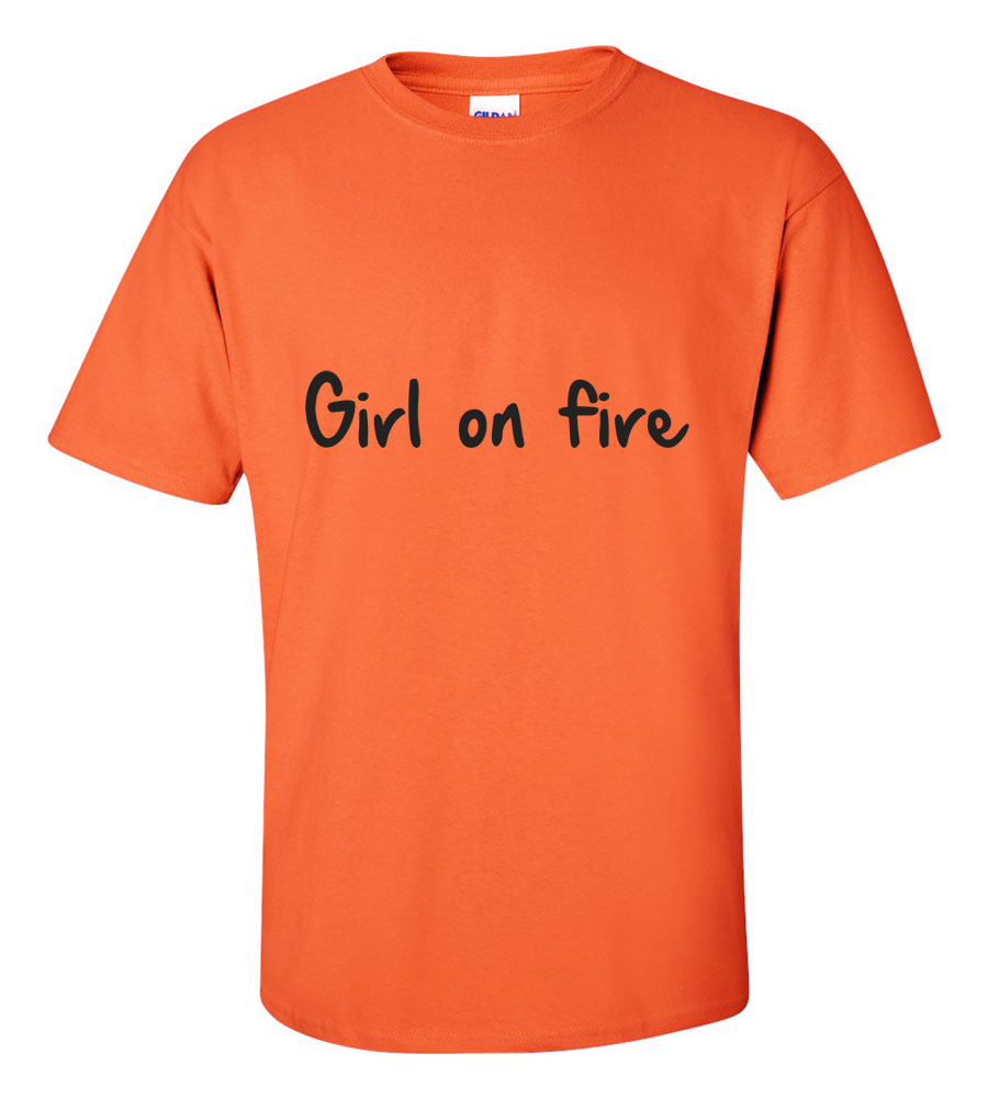 Girl On Fire Hooded Sweatshirt