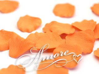 Orange Popsicle Tangering Silk Rose Petals Wedding 600