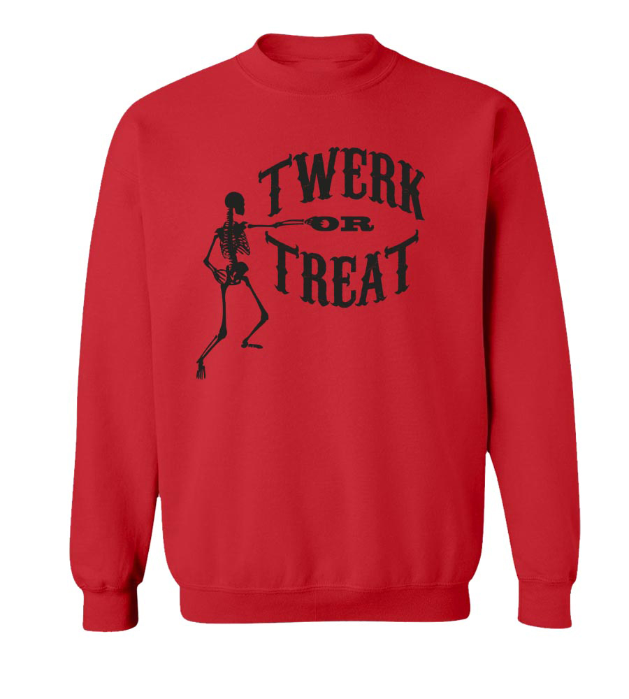 Halloween Twerk or Treat Crew Neck Sweatshirt