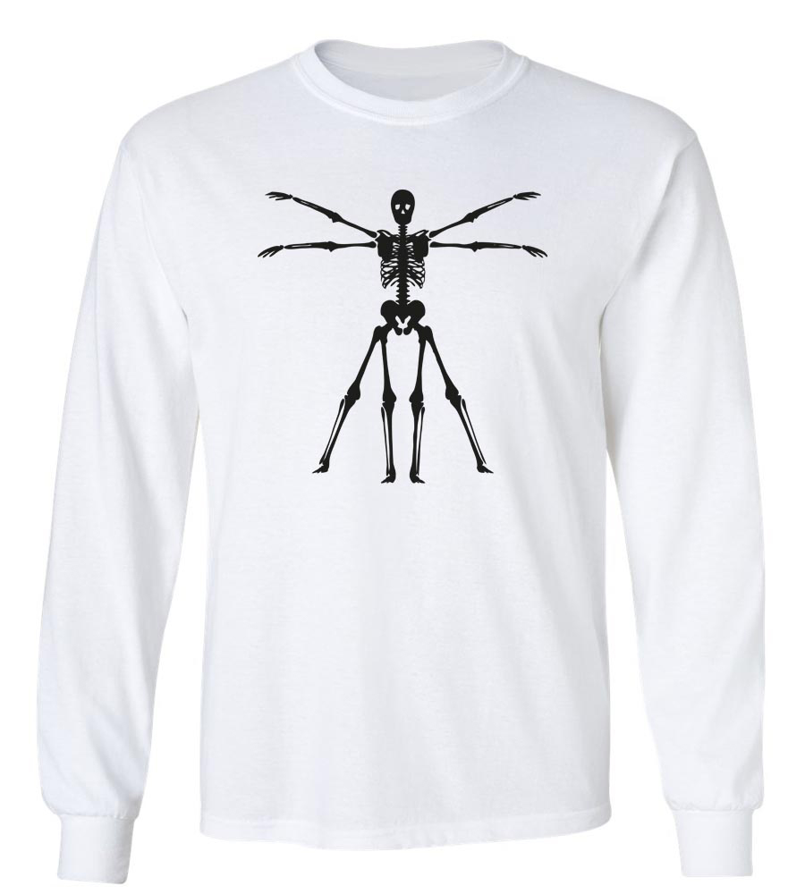 Halloween Skeleton Long Sleeve T-Shirt