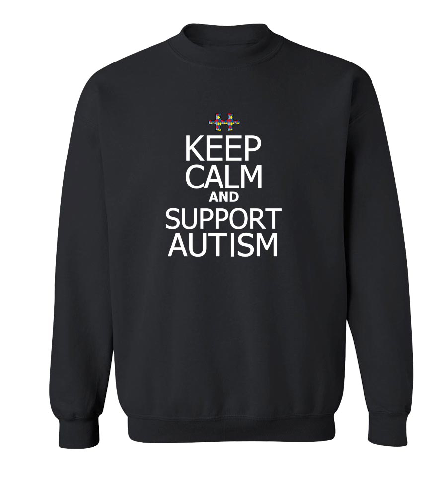 Keep Calm and Support Autism Crew Neck Sweatshirt