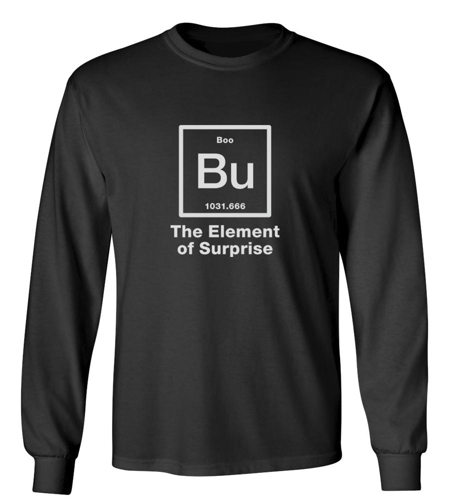 Halloween Bu The Element Of Surprise Long Sleeve T-Shirt