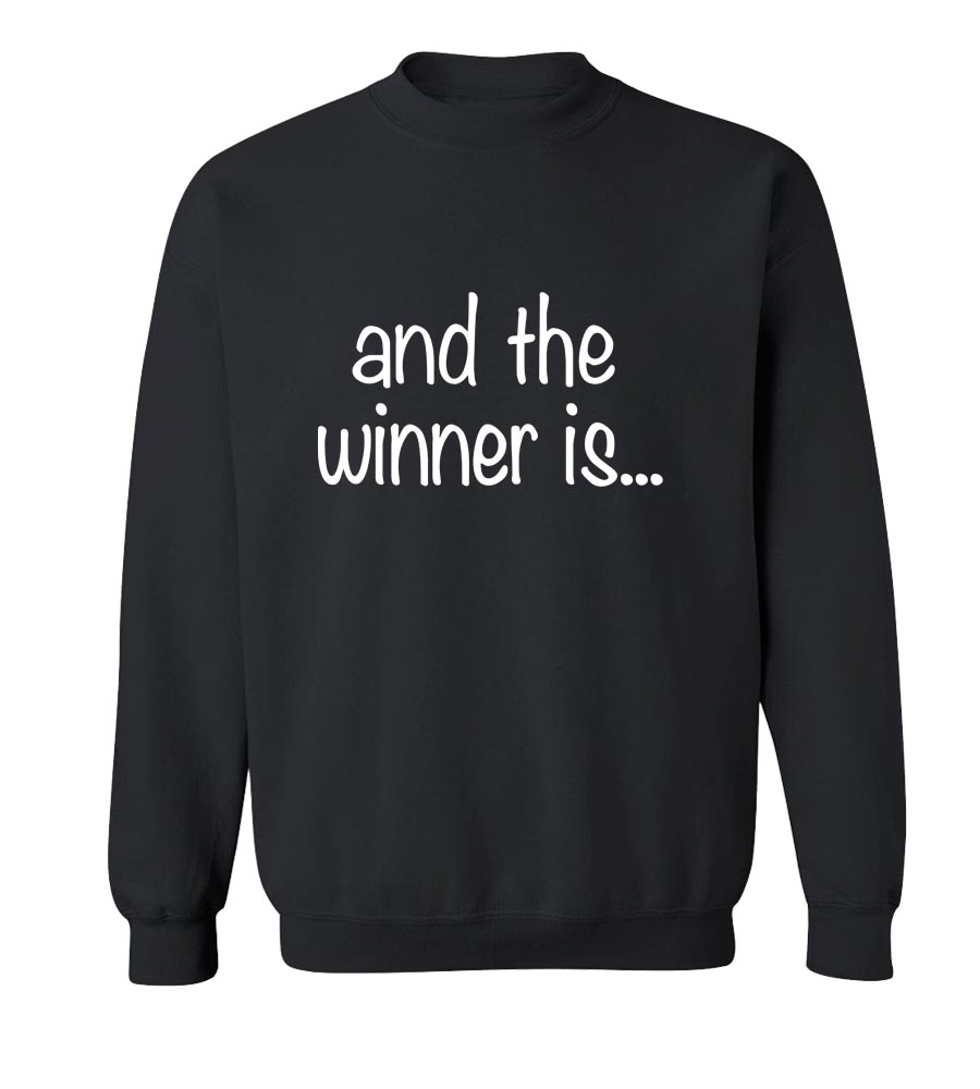 and the winner is... Crew Neck Sweatshirt