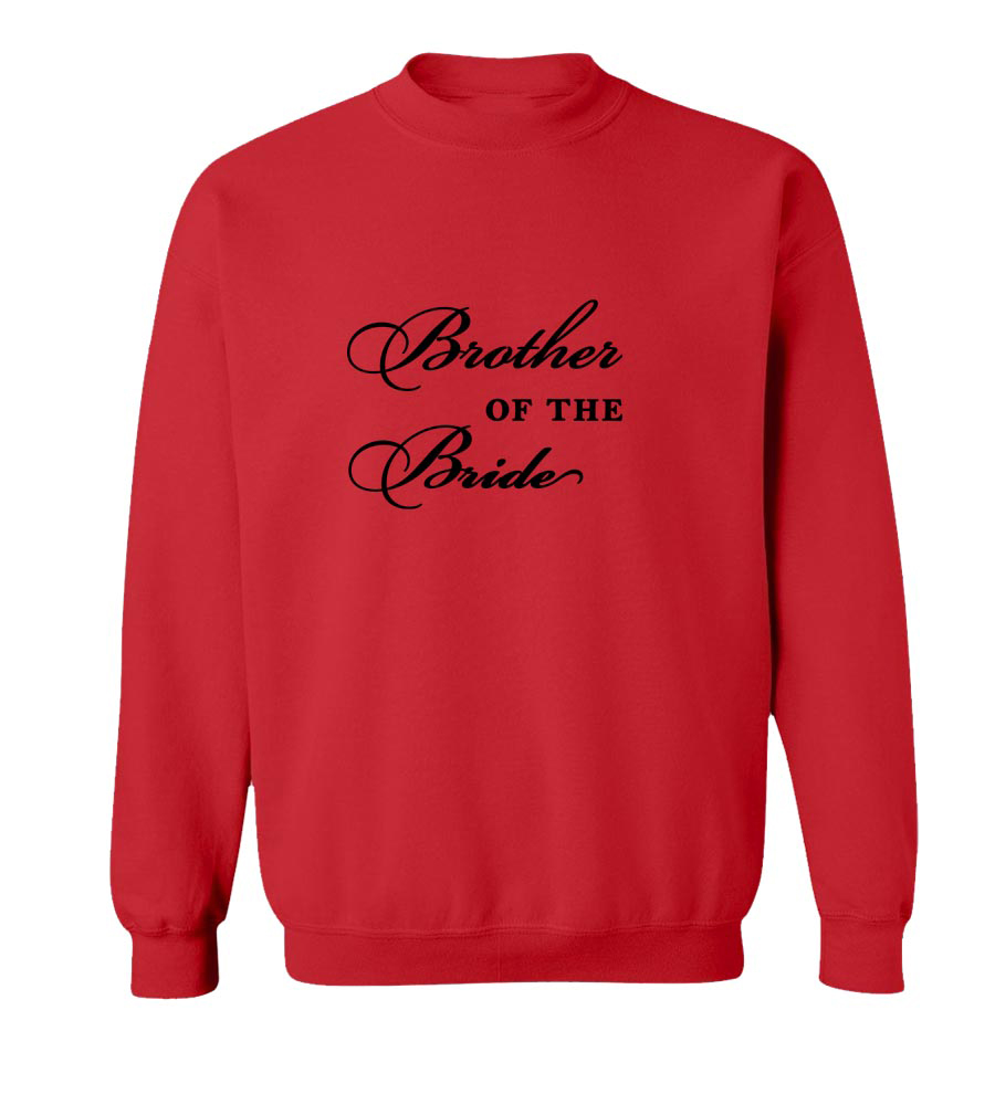 Brother of the Bride Crew Neck Sweatshirt
