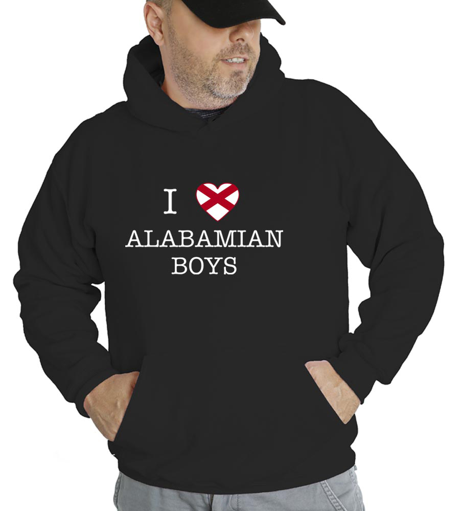 I Love Alabama Boys Hooded Sweatshirt