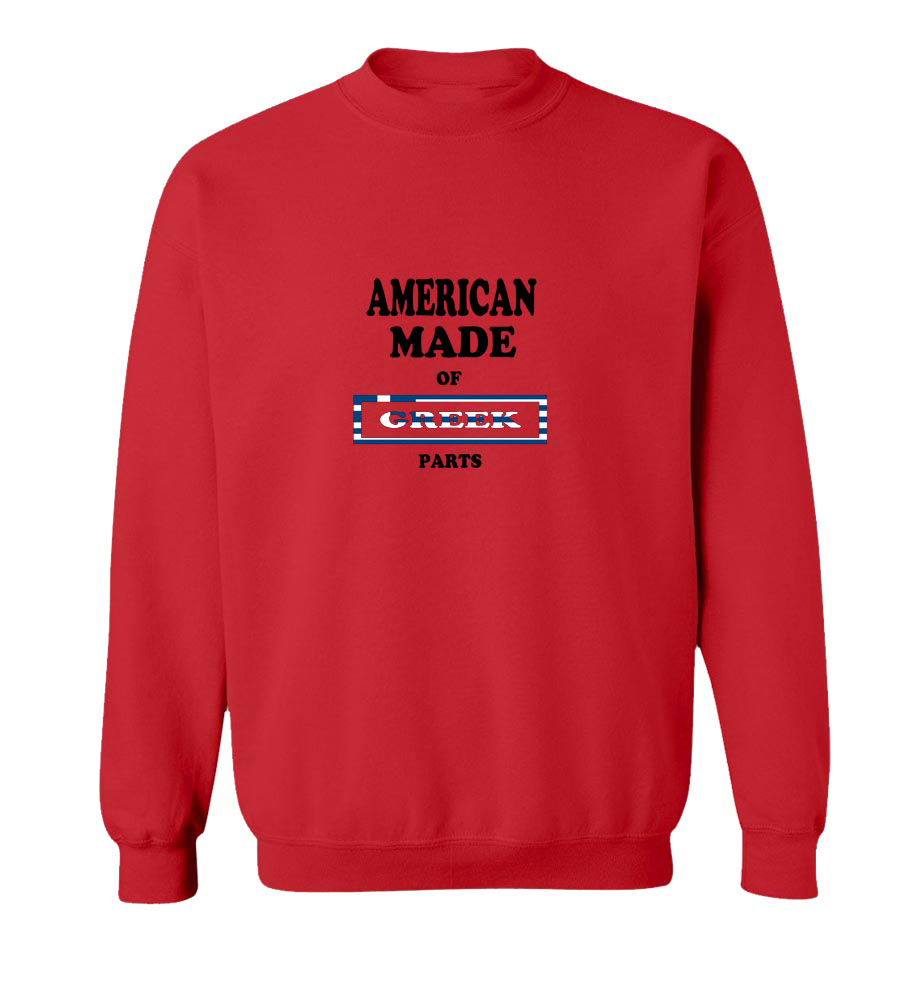 American Made Of Greece Parts crew neck Sweatshirt