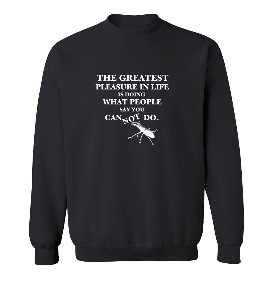 The Greatest Pleasure in Life Crew Neck Sweatshirt