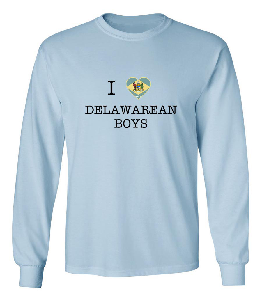 I Love Delaware Boys Long Sleeve T-Shirt