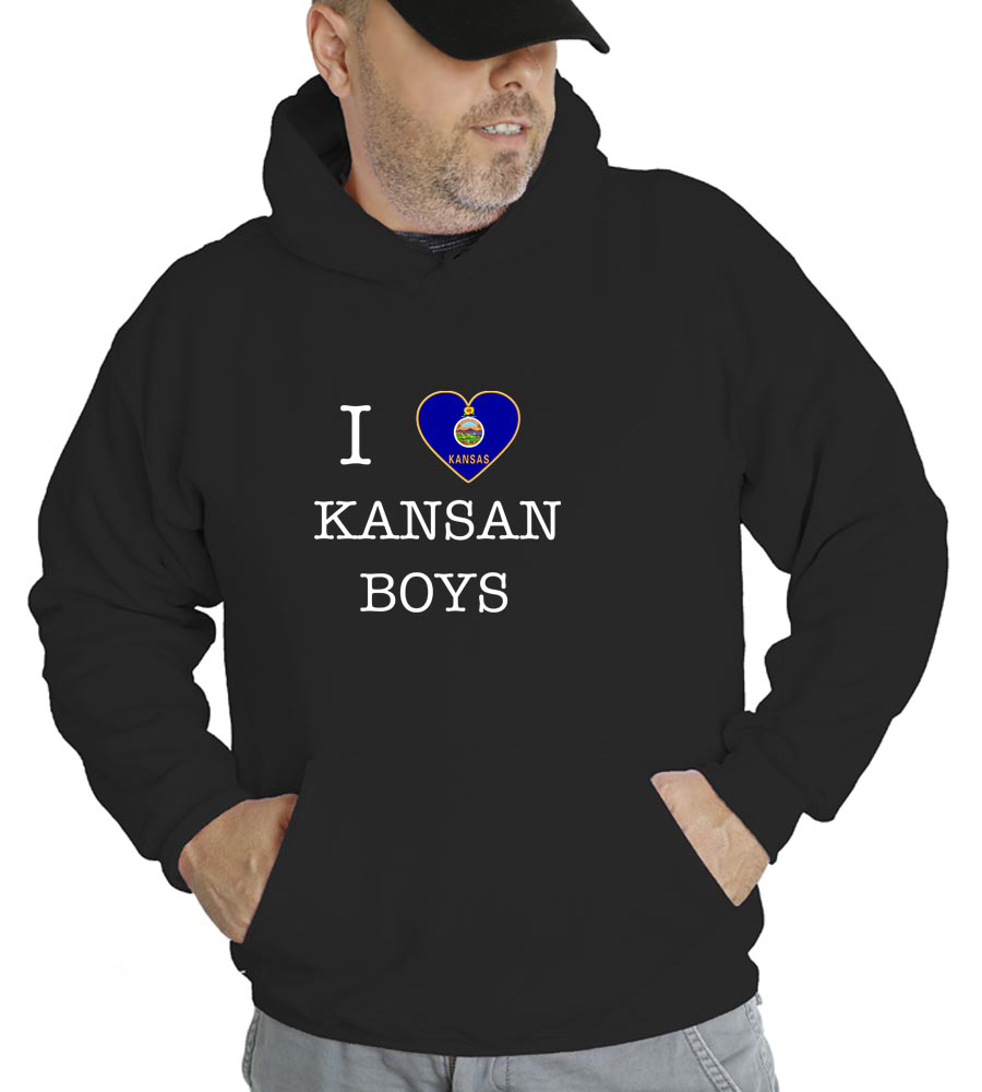 I Love Kansas Boys Hooded Sweatshirt