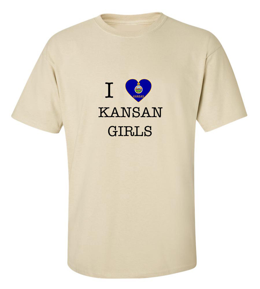 I Love Kansas Girls T-Shirt
