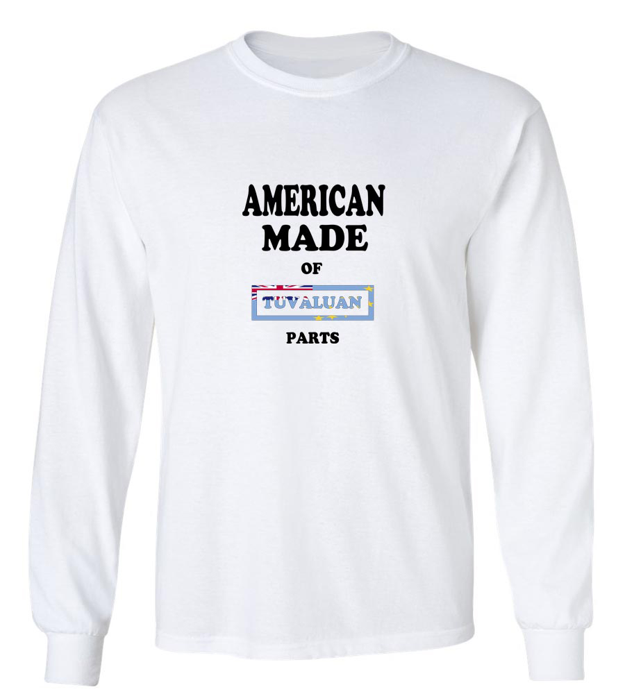 American Made Of Tuvalu Parts Long Sleeve T-Shirt
