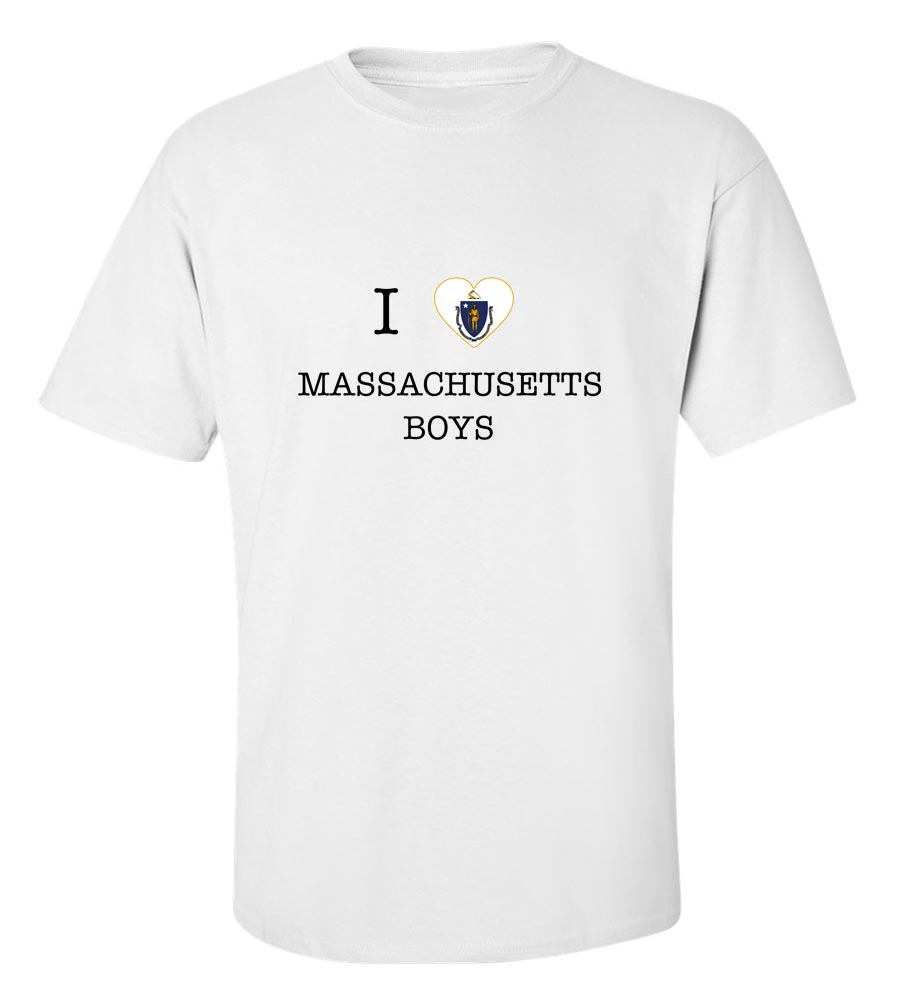 I Love Massachusetts Boys T-Shirt