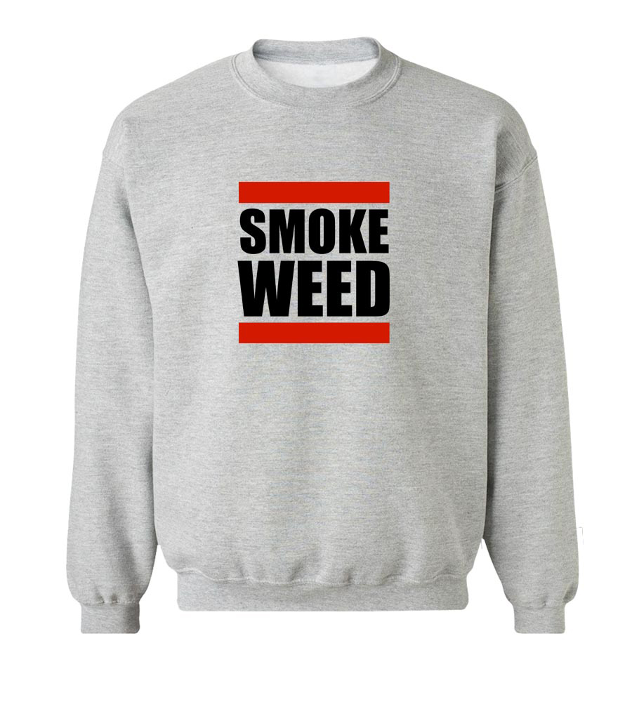 Smoke Weed Crew Neck Sweatshirt