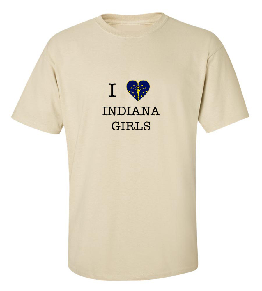 I Love Indiana Girls T-Shirt