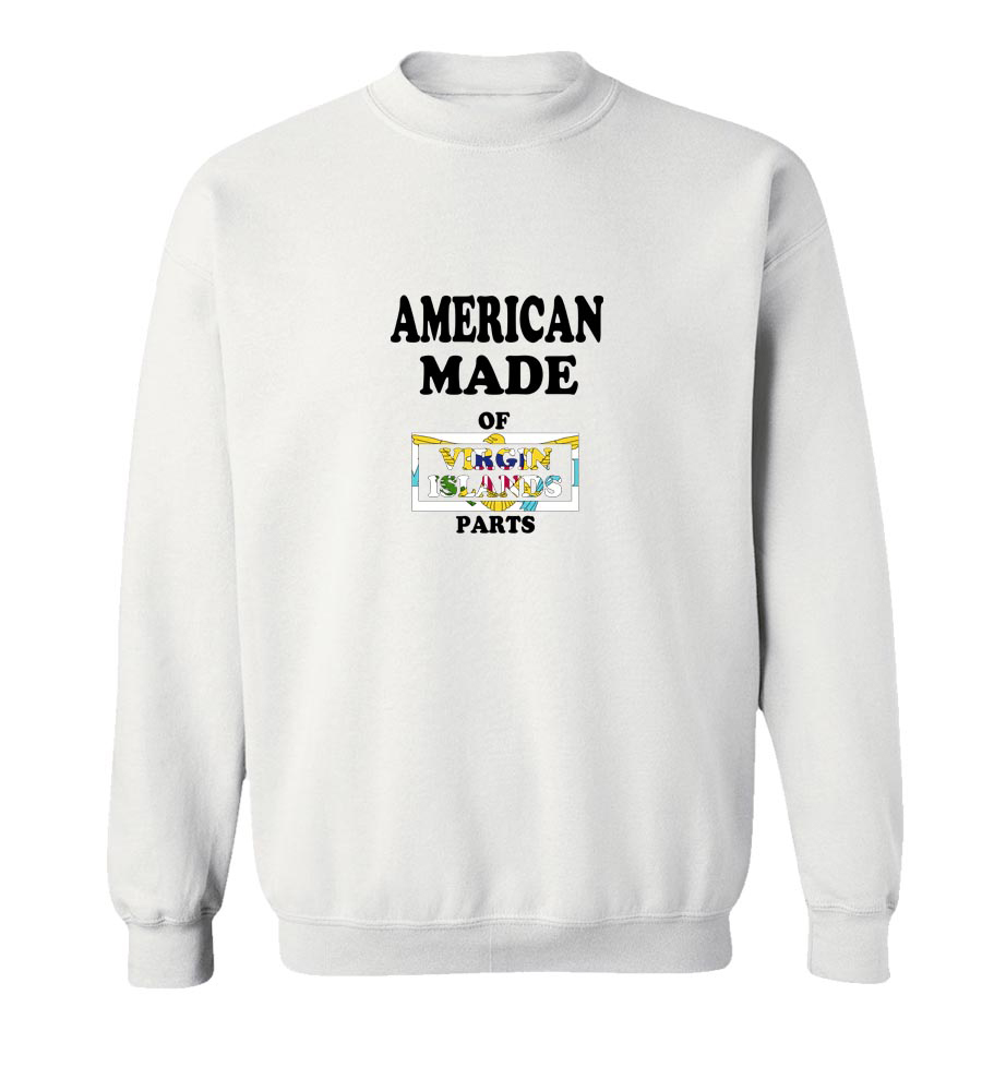 American Made Of Virgin Islands UK Parts Crew Neck Sweatshirt