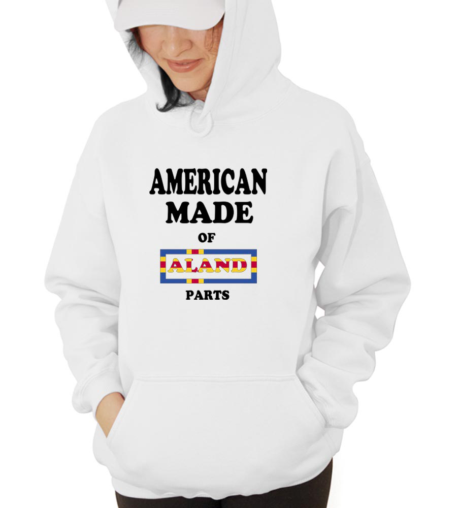 American Made Of Aland Parts Hooded Sweatshirt