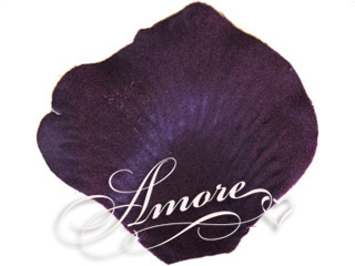 Lapis Deep Purple Silk Rose Petals Wedding 2000
