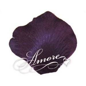 Lapis Deep Purple Silk Rose Petals Wedding 600