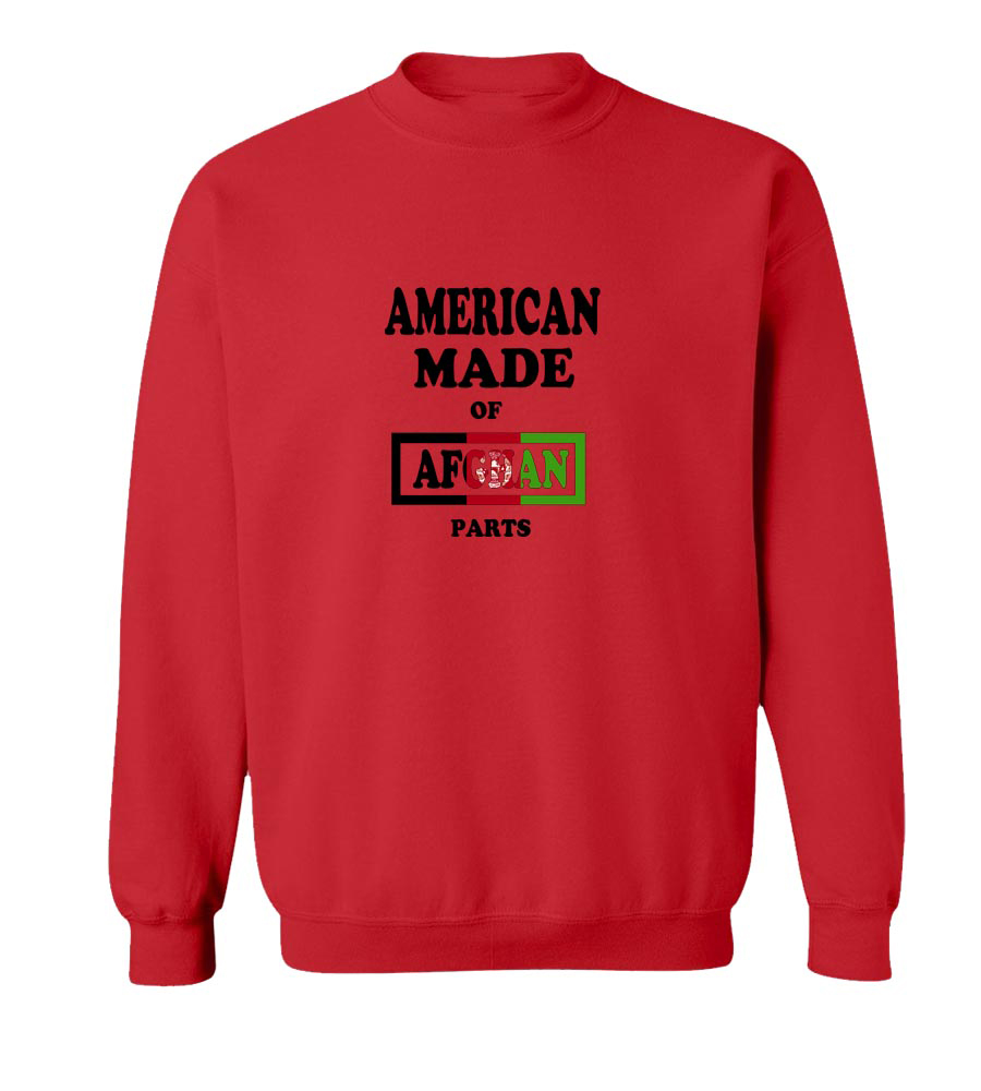 American Made Of Afghanisthan  Parts crew neck Sweatshirt