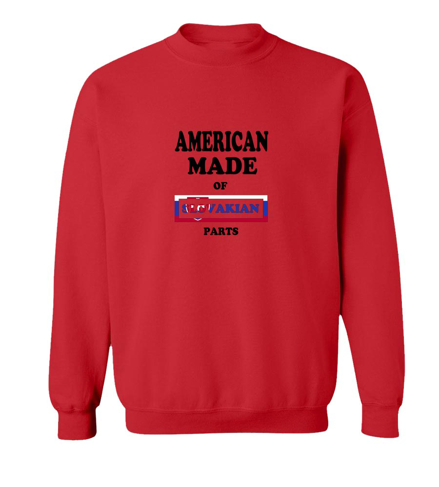 American Made Of Slovakia Parts crew neck Sweatshirt