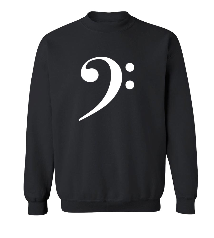 Bass Clef Croissants Crew Neck Sweatshirt