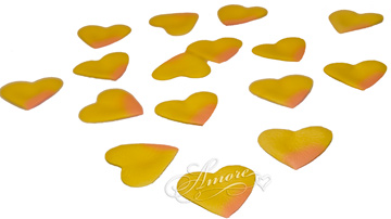 Peach Heart Shaped Silk Rose Petals Wedding Bulk 1000