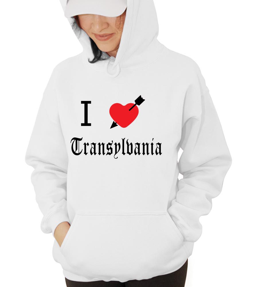 I Love Transylbania Hooded Sweatshirt