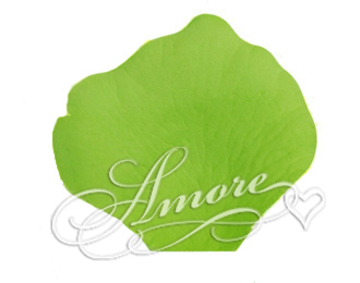 Apple Green Silk Rose Petals Wedding 600